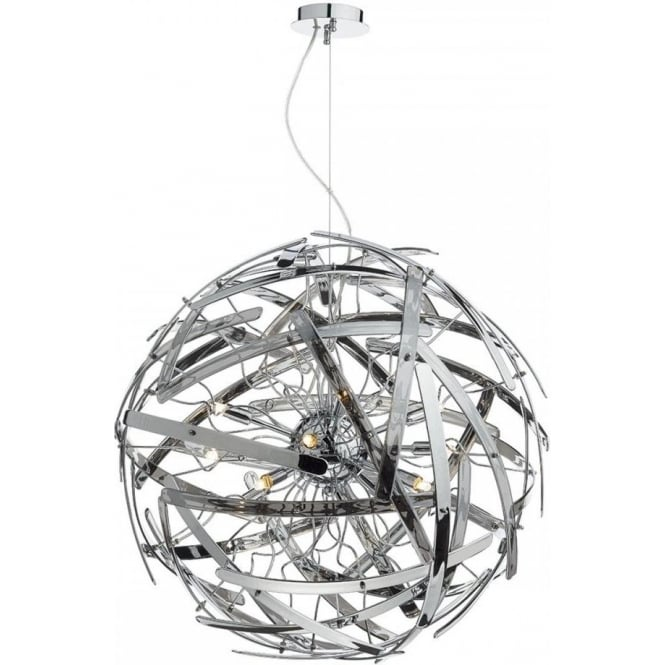 mel1210 is the dar melba 12 light pendant with smoked glass