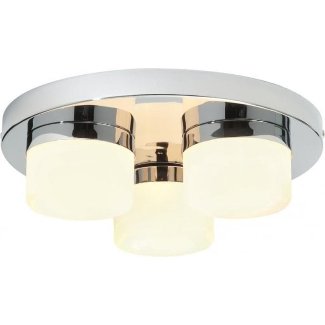 Endon 34200 Pure 3 Light Flush Ceilling Light IP44 Polished Chrome
