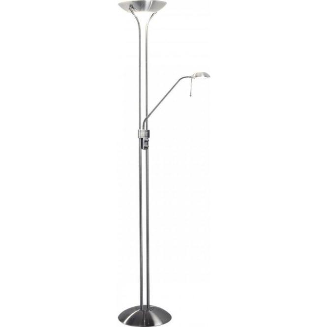 Dar mon4946 montana traditional floor lamp mon4946 montana 2 light floor lamp satin chrome aloadofball Image collections