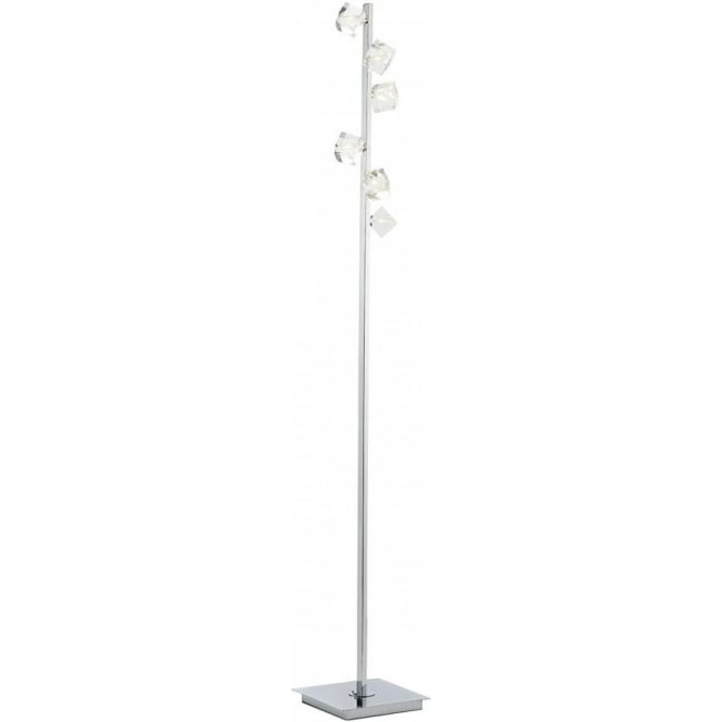 Dar UNI4950 Union 6 Light Floor Lamp Polished Chrome