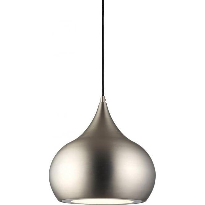 The 61296 is a single led pendant in a matt nickel finish by endon 61296 brosnan led 1 light ceiling pendant matt nickel aloadofball Gallery