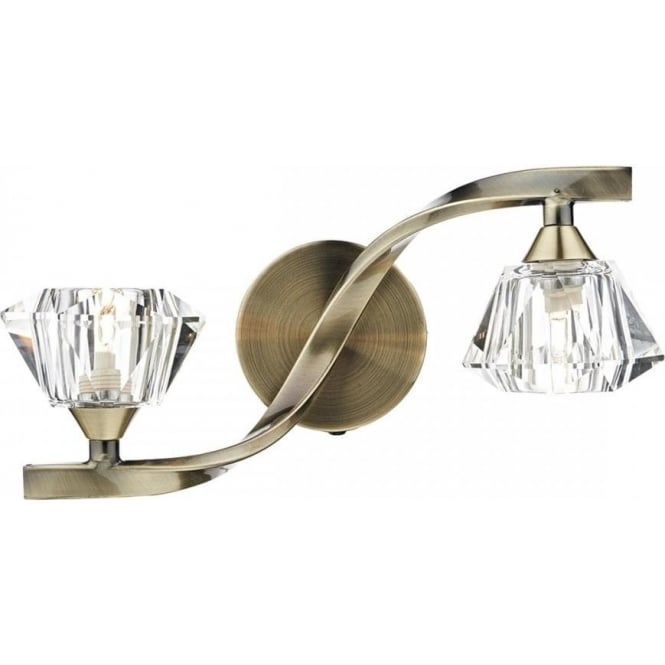 anc dar ancona switched wall light in antique brass