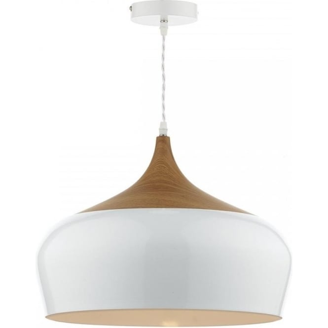 Ceiling Lights Pendant : Gau gaucho pendant dar gloss white ceiling light