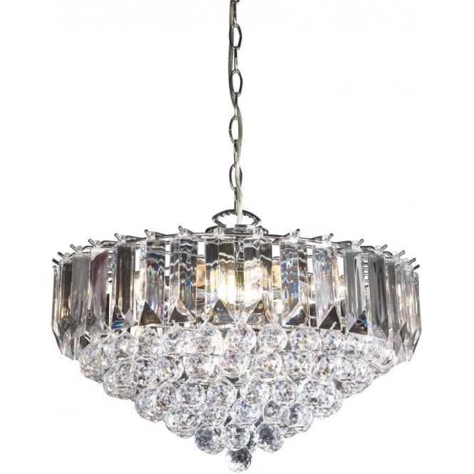 Endon FARGO-18CH 6 Light Modern Ceiling Light Chrome Plated Finish