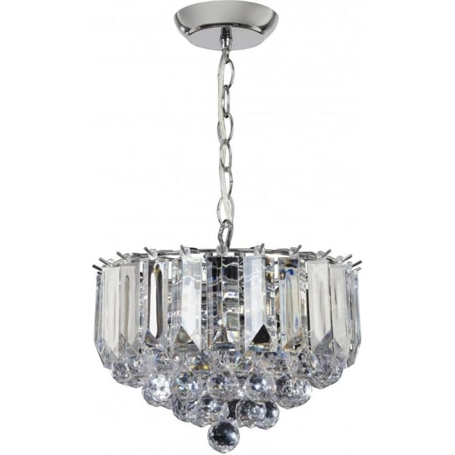Endon FARGO-12CH 3 Light Modern Ceiling Light Chrome Plated Finish (Small)