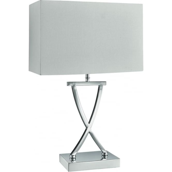 Ulysses Chrome Table Lamp: This Is A Moder 1 Light Table Lamp With A Polished Chrome Base