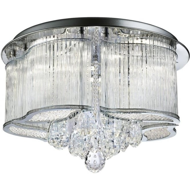 Searchlight 7985-48CC Mela LED Ceiling Light Polished Chrome
