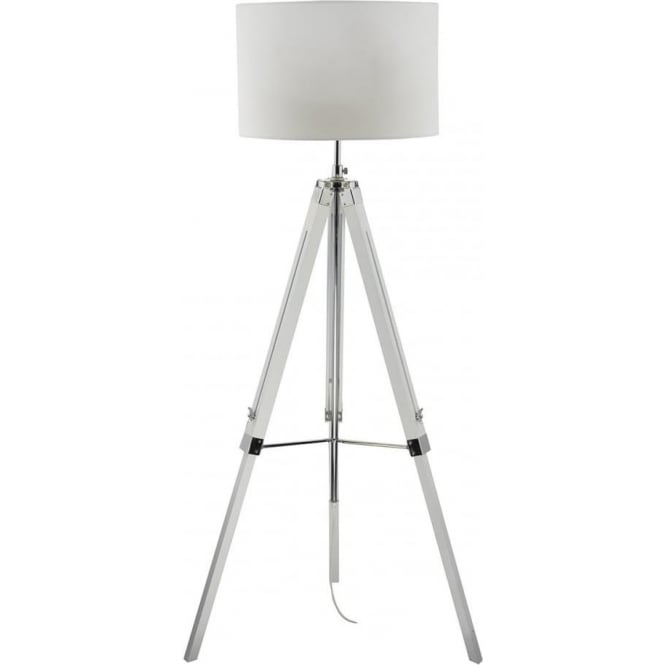Dar EAS492/PYR182 Easel 1 Light Floor Lamp White