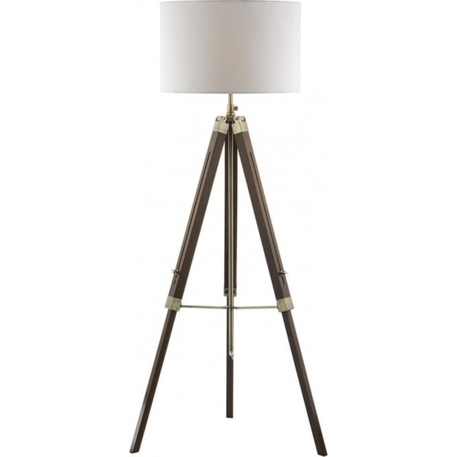 Dar EAS4947/PYR182 Easel 1 Light Floor Lamp Dark Wood