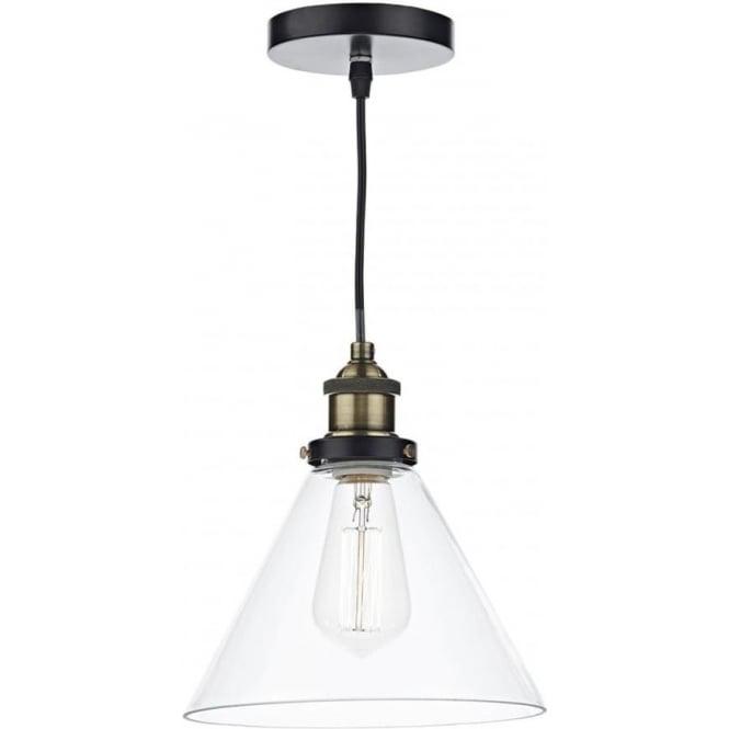 Smartwares Industrial Es Pendant Light Black Bronze: Dar Ray RAY0175 Pendant, 1 Light Antique Brass