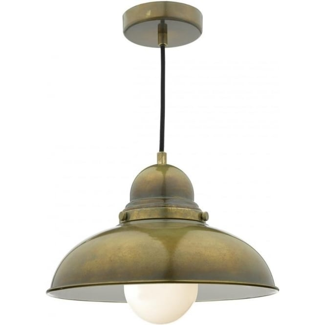 Dar DYN0142 Dynamo 1 Light Ceiling Light Weathered Brass