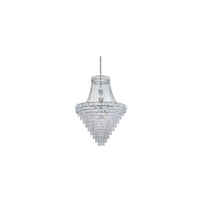 Searchlight 1711-102CC Louis Philipe Crystal 28 Light Chandelier Polished Chrome