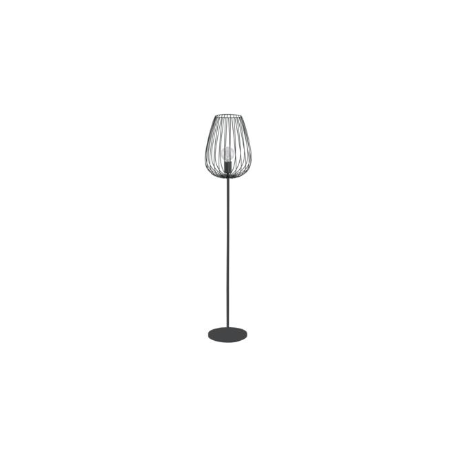 Eglo 49474 Newtown 1 Light Floor Lamp Black