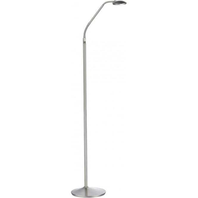 Dar WEL4946 Wellington LED Floor Lamp Satin Chrome