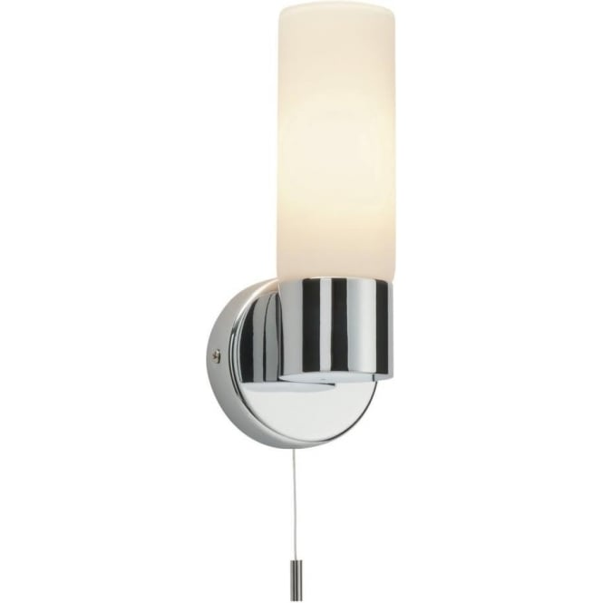 Endon 34483 Pure 1 Light Switched Wall Light IP44 Polished Chrome