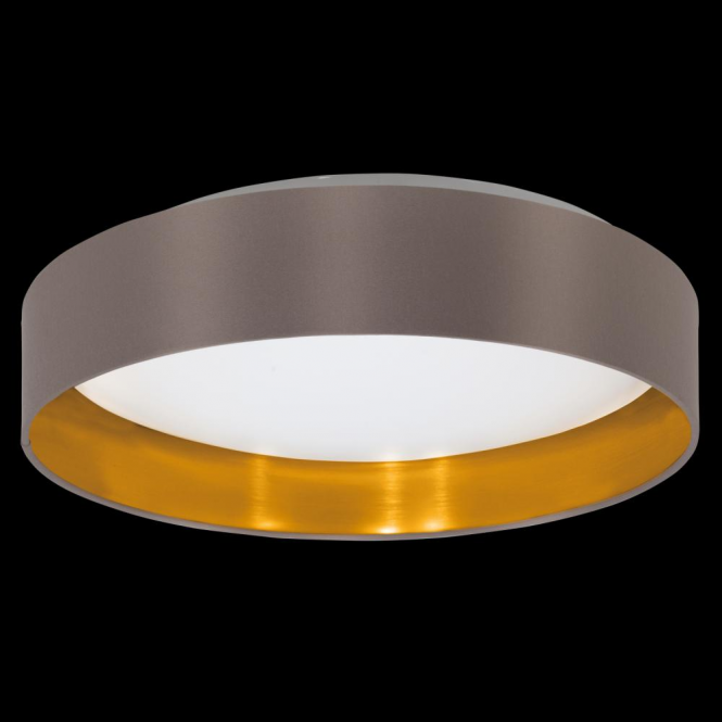 Eglo 31625 Maserlo LED Ceiling Light Glossy Cappucino