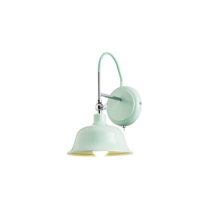 Endon 60760 Laughton 1 Light Switched Wall Light Light Green