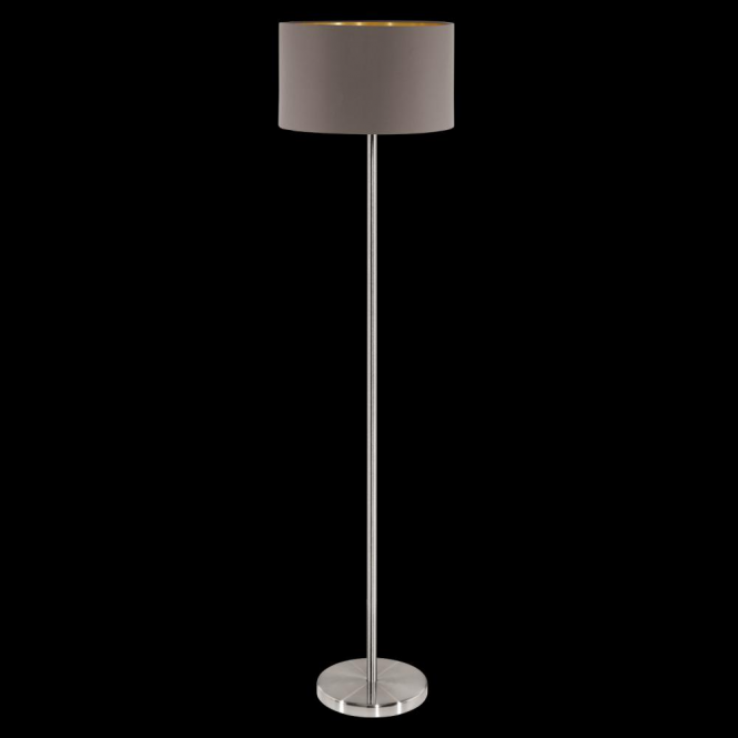 Eglo 95172 Maserlo 1 Light Floor Lamp Glossy Cappucino