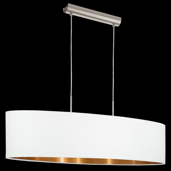 Eglo 95047 Pasteri 2 Light Pendant Matt White