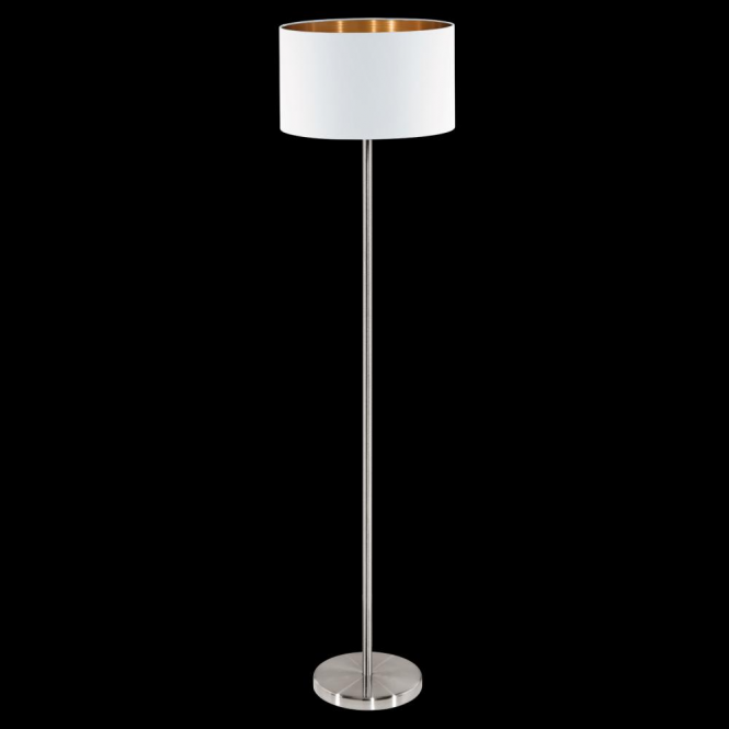 Eglo 95174 Pasteri 1 Light Floor Lamp Matt White