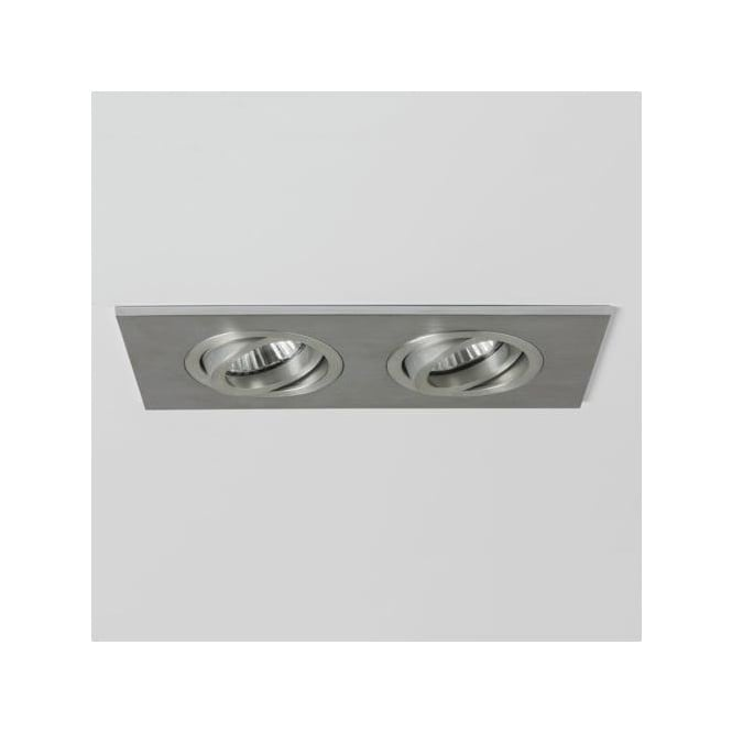 Astro 5709 Taro Twin Adjustable Fire Rated Downlights Brushed Aluminium