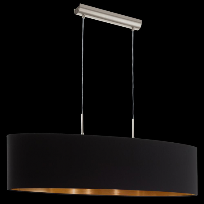 Eglo 94916 Pasteri 2 Light Pendant Matt Black