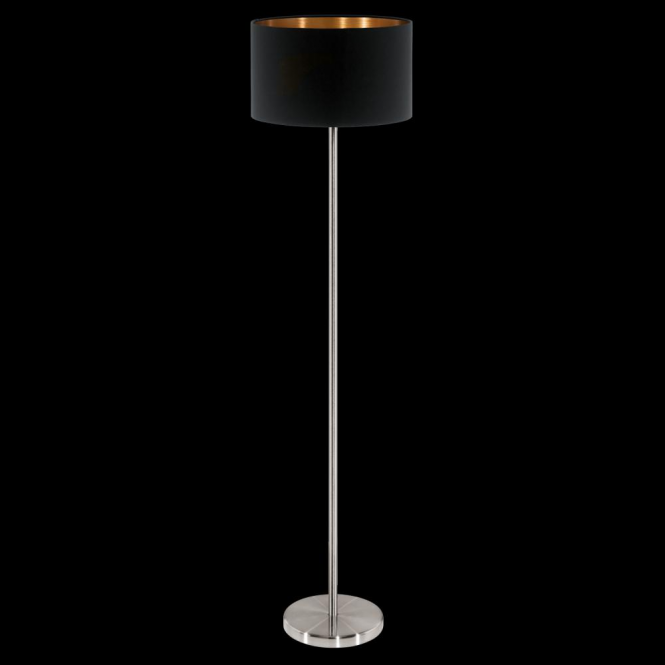 Eglo 95175 Pasteri 1 Light Floor Lamp Matt Black