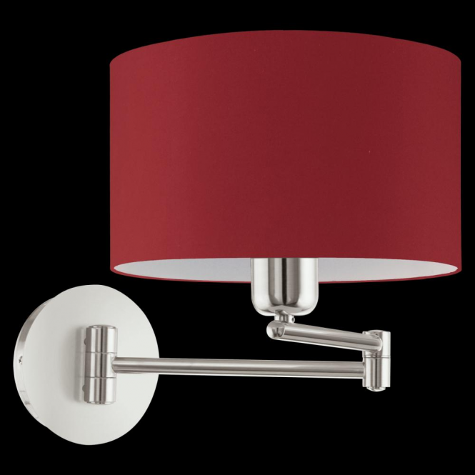 Eglo 95065 Pasteri 1 Light Switched Wall Light Marsala