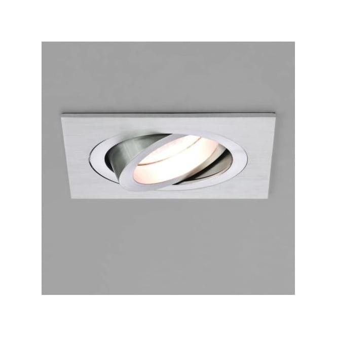 Astro 5677 Taro Square Adjustable Fire Resistant Interior Down Light Brushed Aluminium