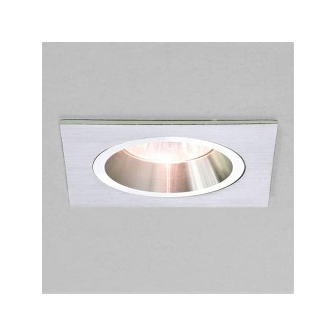 Astro 5673 Taro Square Fire Resistant Fixed Interior Down Light Brushed Aluminium