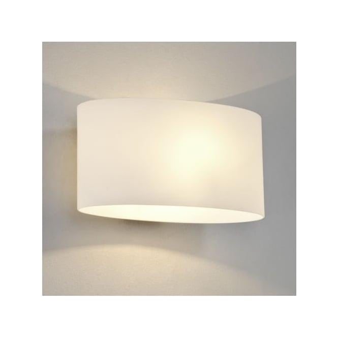 Astro 0472 Tokyo 1 Light Wall Light Polished Chrome White Glass