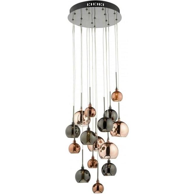 Pendant lighting pendant lights ocean lighting aur1564 aurelia 15 light ceiling pendant black chrome aloadofball Choice Image