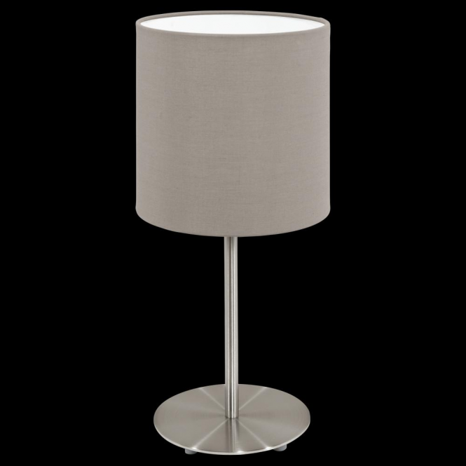 This Is A 1 Light Table Lamp Complete With A Matt Taupe Shade