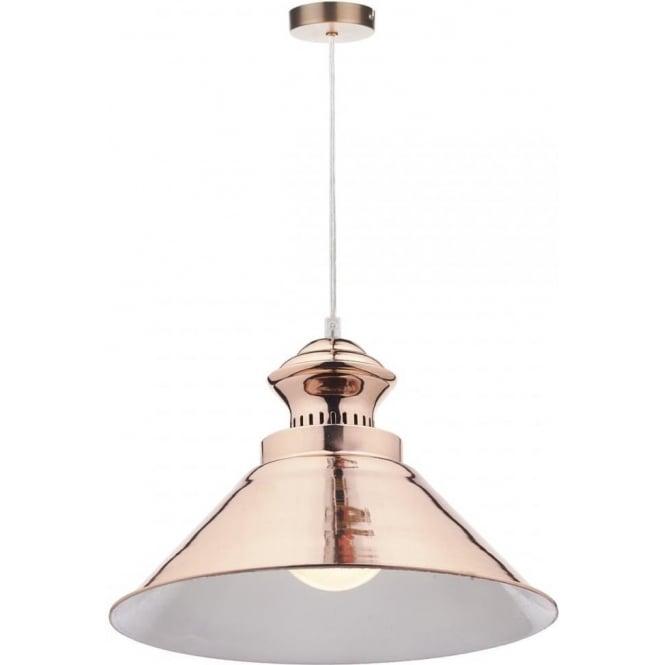 DAU0164 1 Light Pendant Dar Dauphine Bright Copper With