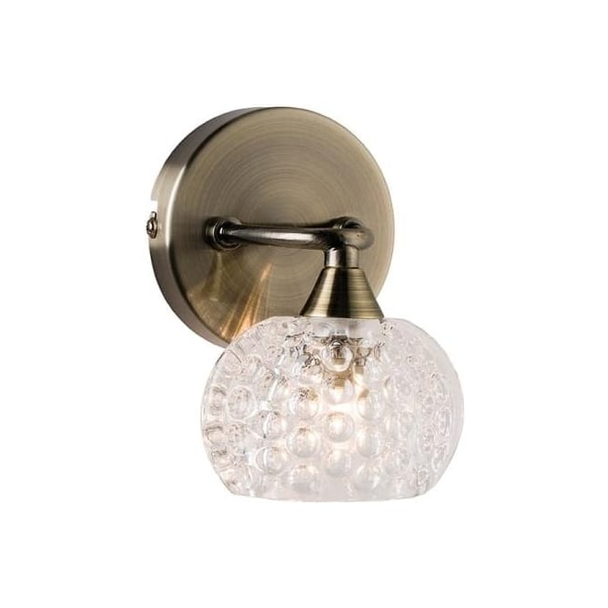 Endon 60921 Eastwood 1 Light Wall Light Light Antique Brass