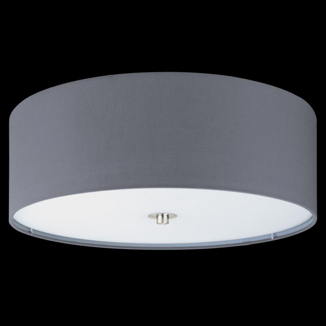 Eglo 94921 Pasteri 3 Light Ceiling Light Grey