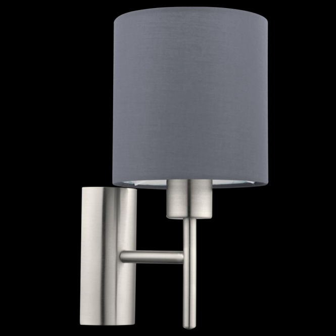 this is a 1 light wall light complete with a matt grey shade 14462 | 1466092204 96916300