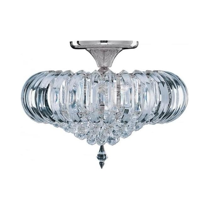 50004cc sigma 5 light semiflush ceiling light polished chrome