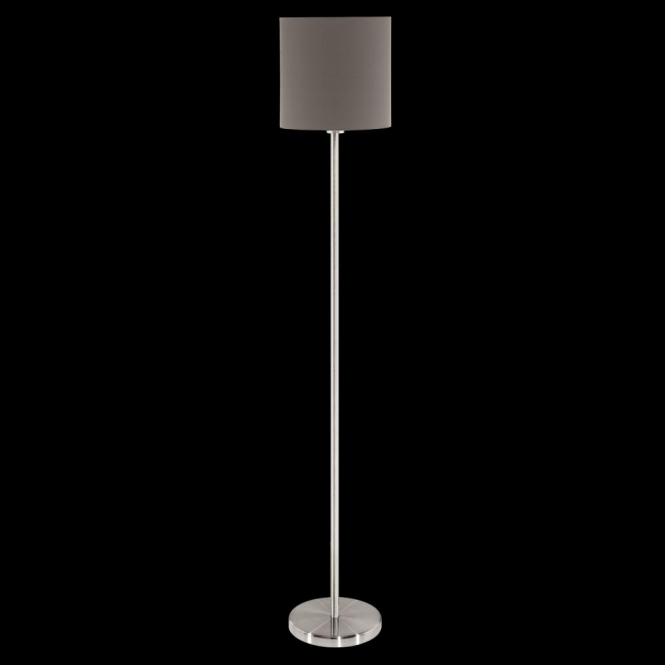 Eglo 95165 Pasteri 1 Light Floor Lamp Anthracite/Brown