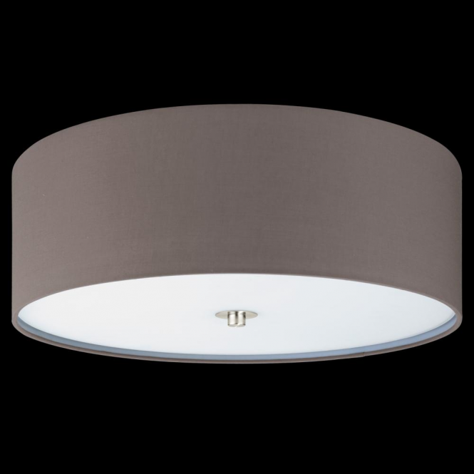 Eglo 94922 Pasteri 3 Light Ceiling Light Anthracite/Brown