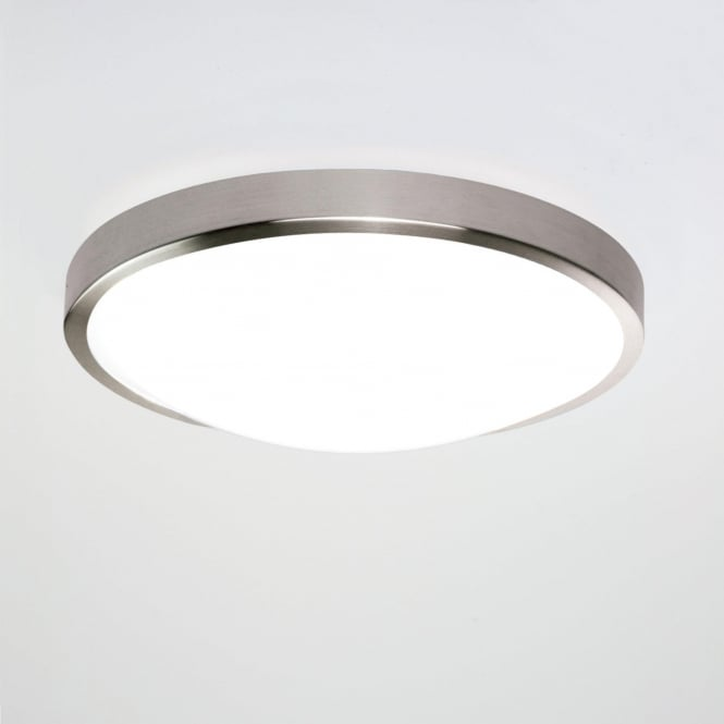 Astro 7414 Osaka 350 LED Flush Ceiling Light Brushed Nickel IP44