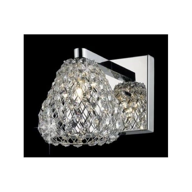 Impex Russell CFH501131/WB/CH Simone 1 Light Crystal Wall Light Polished Chrome