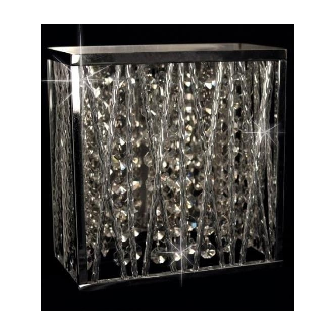 Impex Russell CFH310221/01/WB/CH Melenki 1 Light Crystal Wall Light Polished Chrome