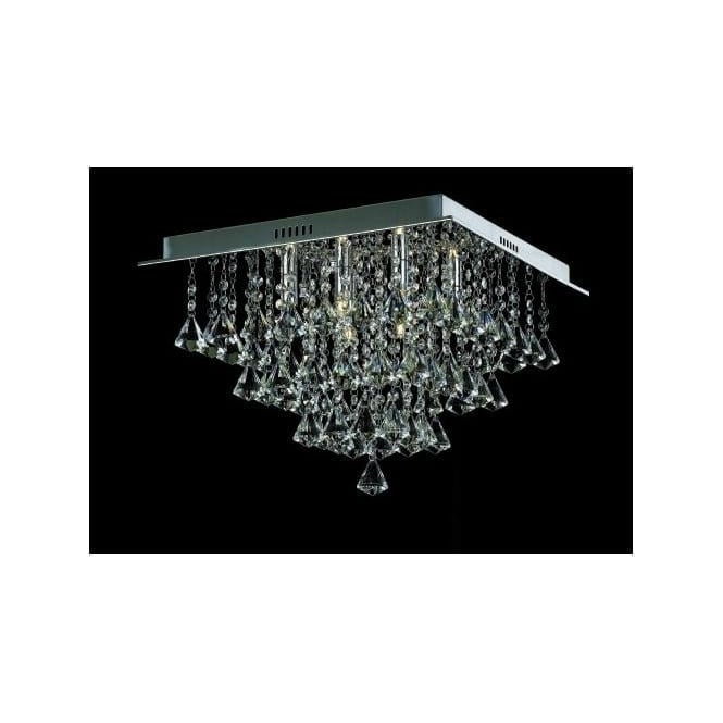 Impex Russell CFH301171/06/PL/CH Parma 6 Light Semi-Flush Ceiling Light Polished Chrome