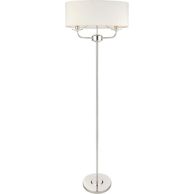 Endon 60803 Nixon 2 Light Floor Lamp Polished Nickel