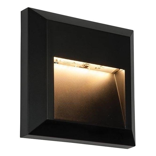 Led Wall Light Ip65: Endon 61219 Severus Square LED Wall Light IP65 Black
