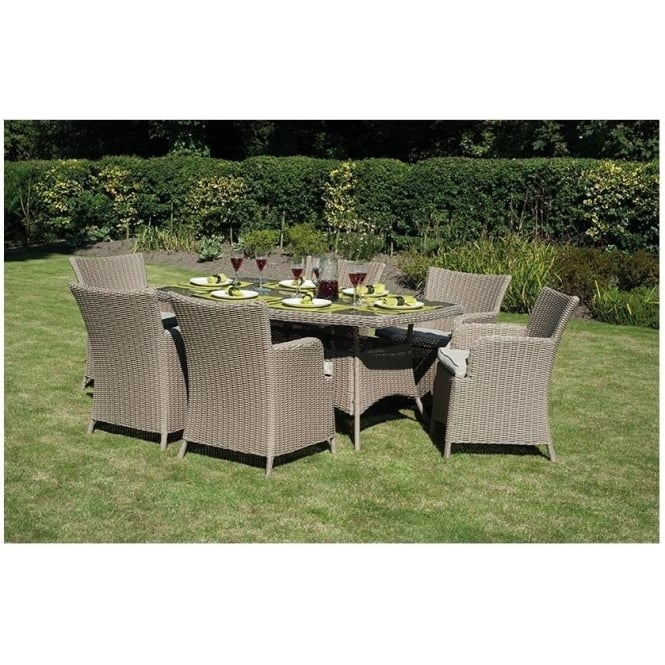 Outdoor Lights Cape Town: Cape Town 18-089 6 Seater Outdoor Dining Set