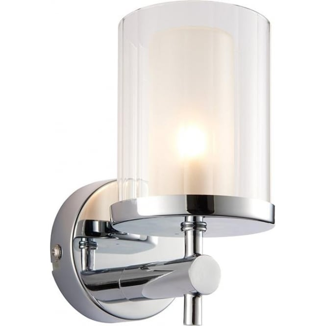 Endon 51885 Britton 1 Light Bathroom Wall Light Light IP44 Chrome