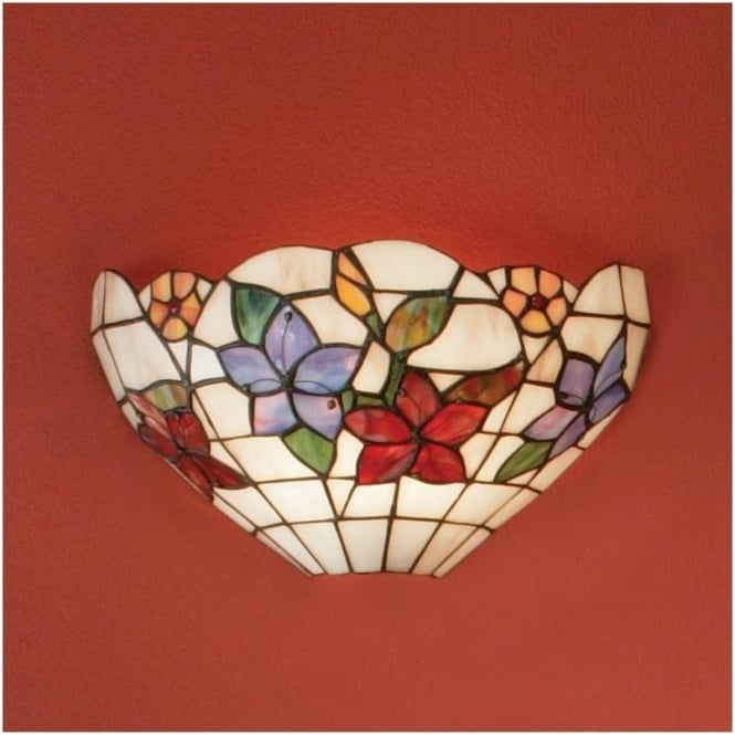 Interiors 1900 64032 Country Border 1 Light Tiffany Wall Light