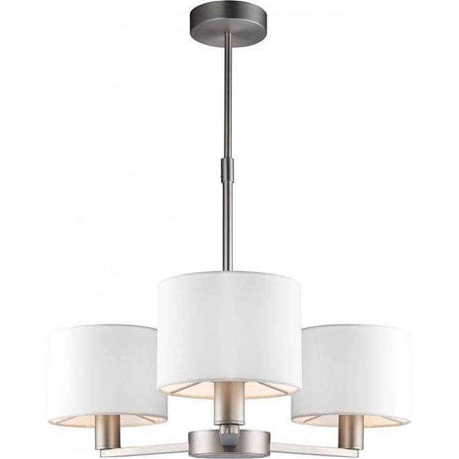 Endon 60256 Daley 3 Light Ceiling Light Matt Nickel